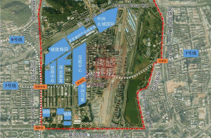 网友爆料:城建梅园要动工了,罗湖又增添一栋200米地标大楼