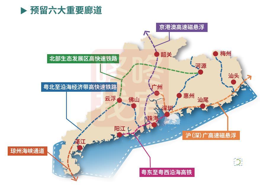 广东国土空间规划发布!沪深广、京港澳磁悬浮来了