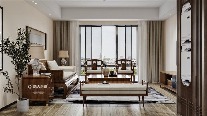 【英伦名苑】150平新中式四居室,精致且舒适-咚咚地产头条