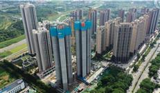454套安居房,中冶天工集团安居御龙苑项目正式封顶