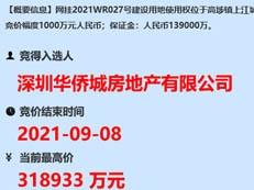 限售价2.67万/㎡!刚刚,华侨城约31.9亿拿下东莞超11万平靓地