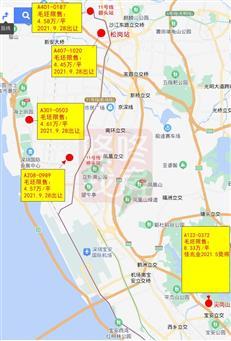 """29盘抢先剧透!未来1-2年,深圳新房""""限售房价""""地图来了...-咚咚地产头条"""